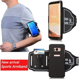 Wholesale Sports Armband Pouch Case - For Samsung Galaxy S8   S8 Plus Sports Running Arm Band Phone Case Holder Pouch DH1700023