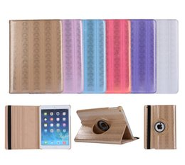 Wholesale Colorful Case Ipad Mini - Luxury 360 Degree Rotating Colorful Bling Flip Stand PU Leather Case Smart Cover For iPad 2 3 4 5 6 7 Air Air2 Mini Mini4 Pro 9.7 inch