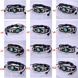 Wholesale Jewelry Black Hand - Twelve stars bracelet jewelry Europe and the United States hand beads jewelry diy constellation moonlight gem foreign trade sources