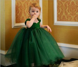 Wholesale Korean Wedding Dress Ankle Length - Korean Girls 3-Colors Ball Gown Baby Girls Tulle Tutu Dress Flower Girl Wedding Birthday Dresses Children High Grade Princess