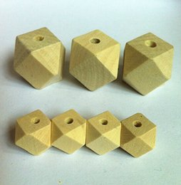 Wholesale Wooden Beads Wholesale Free Shipping - IB2203 Free shipping! 10mm 12mm 20mm natural unfinished geometric wood spacer beads jewelry  DIY wooden necklace