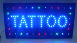 Wholesale Led Indoor Sign Open - Hot selling customized led light sign led tattoo sign neon led tattoo shop open sign billboard indoor