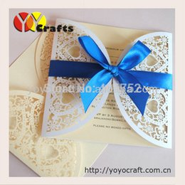Wholesale Wedding Cards Design Price - Wholesale- Hot in USA heart to heart best price laser cut wedding invitation cards handmade folk art wedding invitation card elegant design