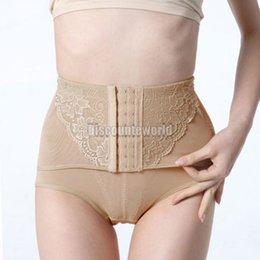 Wholesale Control Knickers Shapewear - Wholesale-New Slimming Tummy Knickers Pants Body Shaper Control High Waist Underwear Shapewear Asian Size L XL XXL y