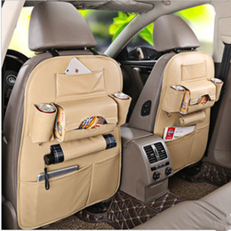 Wholesale Luxury Seat Covers For Cars - Wholesale Luxury Leather Car Seat Back Storage Bags Multi-function Car Organizer Seat Back Pocket Car Seat Covers Universal For All Cars