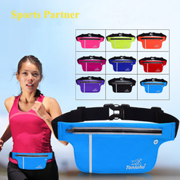 Wholesale Equipment For Football - Wholesale- 5L Waterproof Nylon Unisex Outdoor Running Waist bags with phone pockets for Women sport bags Running fitness equipment Gym bags