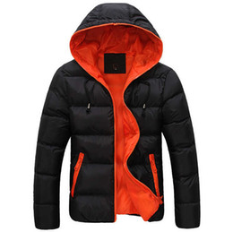 Wholesale Cotton Padded Jackets Men - Mens shirt brand in 2016 new men's cotton blended coat even hat cotton padded jacket leisure thick coat in winter with the size