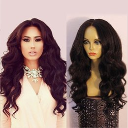 Wholesale Yaki Body - High Density Human Hair Lace Front Wigs Black Women   180 Density Full Lace Wig Body Wave Unprocessed Brazilian Lace Wigs Baby Hair 8A