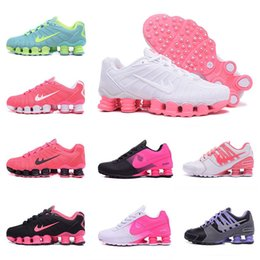Wholesale Crystal Lace Shoes - 2017 woman shox deliver NZ 809 R4 designs women basketball running dress sneakers sport TLX Avenue 803 lady crystal lace flat shoes 36-40
