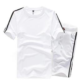 Wholesale Nice Tracksuits - 2016 Fashion Brand Summer Mens Sports Suits Short Sleeve Sweatshirts Casual Nice Tracksuit Men O-Neck Sweatsuit