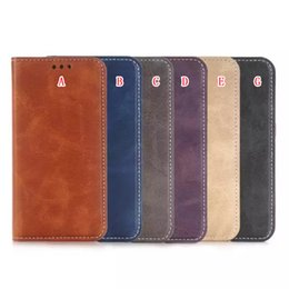 Wholesale Crazy Horse Skin Magnetic - Wallet Leather Case Crazy Horse Pouch Stand ID Card Magnetic For Sumsung Galaxy S5 S7 S6 EDGE Plus J510 A310 A510 A710 2016 J5 A3 A5 A7 Skin