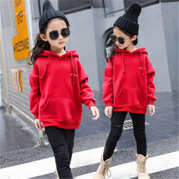 Wholesale Hoodie For Girls - Kids Teens Hoodies For Girls 3~15Y Autumn Spring Outerwear Jackets Long Sleeves High Quality Girls Clothing Hoodies Girls Kids Coats