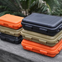 Wholesale Storage Box Seal - Outdoor Shockproof Waterproof Boxes Survival Airtight Case Holder For Storage Matches Small Tools EDC Travel Sealed Containers