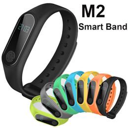 m2 reloj Rebajas M2 Fitness rastreador Reloj Banda Monitor de Ritmo Cardíaco Rastreador de Actividad Impermeable Pulsera Inteligente Podómetro Llamada recordar Salud OTH687