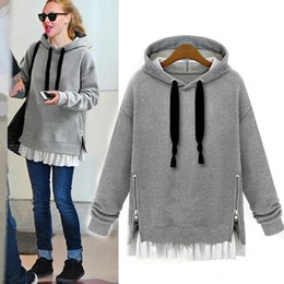 Wholesale Cashmere Hoodies For Women - Loose Large Size Hoodie Long Section Sweatshirt Thickening Plus Cashmere Long Sleeve Hooded Sweater Coat Jacket For Female X5-239