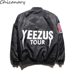 Wholesale Mens Suit Jacket Pattern - Fall-Winter Mens Jackets Coats Ma1 Bomber Jacket Kanye West Yeezus Jackets Sport Suit Parkas Mens Hip Hop Coats Streetwear