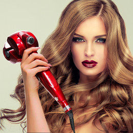 Wholesale Hair Styler Iron - Titanium Auto Hair Curler With Steam Spray Hair Care Styling Tools Ceramic Wave Hair Roller Magic Curling Iron Hair Styler