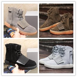 Wholesale Luminous Shoes - 2017 Autumn and winter Y3 male boots Kanye West Boots shoes Boost 750 luminous leisure sports leather men's Running shoes szie 36-46