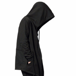 Wholesale Cotton Cloaks - Hot 2018 Jamickiki Brand Men's Black Cloak Hooded Hoodies Male Streetwear Hip Hop Full Sleeves Hoodies Men Women Unisex XXXXXL