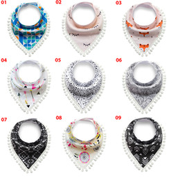 Wholesale Toddler Girls Scarves - 2017 Good Quality 14 Styles Baby Bibs Boys Accessories Newborn Girls Burp Bandana Cotton Soft Toddler Triangle Scarf Infant Saliva Towel