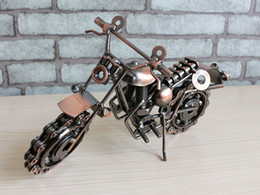 Wholesale Iron Motorcycle Model - 2016 hot sale motorcycle davidson models oversized iron metal crafts creative gift ideas home decoration crafts