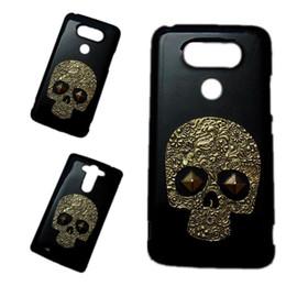 Wholesale Metal Case Lg Optimus - 3D Retro Bronze Skeleton Skull Punk Rivet Stud Hard Back Case Cover for LG Nexus 5 5X G2 Mini G3 Mini G3 Stylus G4c Optimus L70 L80 L90