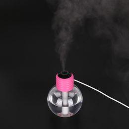 Wholesale Safe Bulb - Humidifiers Stylish Bulb Shape USB Ultrasonic Mini Glowing Round Aroma Diffuser Eco Friendly Mute Safe Mist Maker 24gf A R