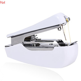 Wholesale Embroidery Clothing Accessories - Mini Portable Handy Stitch Hand Clothes Quick Sewing Machine Portable Cordless Mini Hand-Held Clothes Sewing Machine Household Hot 2801040