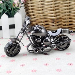 Wholesale Handmade Metal Motorcycles - Vintage Handmade Craft Metal Bar Decor Motorcycle Model JC-001 Cool Best Gift Free Shipping With Tracking Number