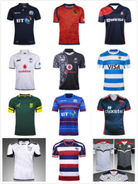 Wholesale Africa Jersey - 2017-2018 National Team rugby jersey Malaysia Spanish Japan Fiji rugby shirts scotland South Africa Spain Palestine jerseys Size S-3XL