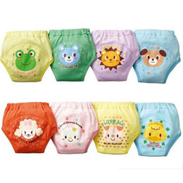 Wholesale Washable Pants - 4 layers cartoon baby training pants cloth diapers waterproof potty training pants toddler newborn underwear Washable Reusable