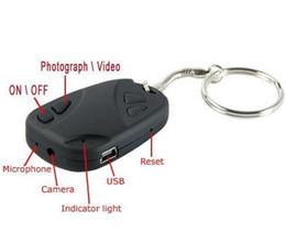 Wholesale Key Chain Cams - Spy keycahin mini SPY CAR KEY HIDDEN CAMERA 808 KeyChain Digital CAM Chain DV DVR WebCam Camcorder Video Recorder with retail box