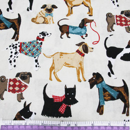 Wholesale Textile Bedding Material - 45426 50*147CM Various dogs printed cotton fabric for Tissue Kids Bedding textile for Sewing Tilda Doll, DIY handmade materials