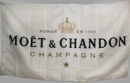 Fahne 3x5 ft online-Benutzerdefinierte weiße Flagge Banner für Moet Chandon Champagner 3 x 5 ft Polyester High Quality Bar Banner