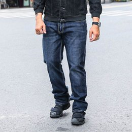 Wholesale Great Flying - Men's Relaxed Straight Jeans Great Look Cool Shape Denim Pant Oversize Clothing Big Tough Men Plus Size 40 42 44 46 48