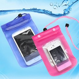Wholesale Waterproof Pink Iphone5 Case - 100pcs lot Promotion Clear Waterproof Pouch Bag Dry Case Cover For Cell Phone iphone5 Samsung s3 Free shipping