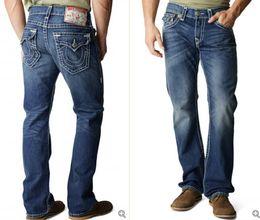 Wholesale Good Rocks - Good quality NEW hot Men's Robin Rock Revival Jeans Crystal Studs Denim Pants Designer Trousers Men's size 30-40