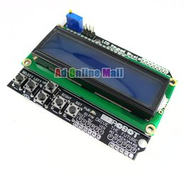 Wholesale LCD Keypad Shield LCD1602 Character LCD Input And Output Expansion Board For Arduino