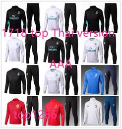 Wholesale Tracksuits Men Soccer - top quality Real Madrid tracksuit jackets 17 18 BENZEMA JAMES BALE MODRIC SERGIO RAMOS 17 18 RONALDO tracksuit jackets
