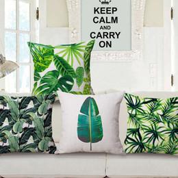 Wholesale Banana Cushion - Tropical Beach Cushion Cover Rainforest Palm Banana Leaf Pattern Home Pillowcase