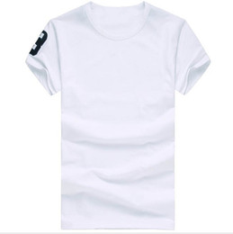 Wholesale White Neck Shirt - Free shipping 2016 High quality cotton new O-neck short sleeve t-shirt brand men T-shirts casual style for sport men T-shirts