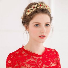 Wholesale Bride Dress 22 - The new bride crown Shylock Set auger red wedding dress wedding accessories, the product no. 027-22