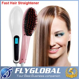 Wholesale Best Hair Iron Straightener - Newest Beautiful Star LCD Hair Straightener Straight Hair Styling Tool Straightening Irons Combs Digital Temperature Controller best quality
