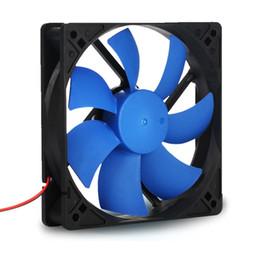 cassa del dissipatore Sconti All'ingrosso - PC Computer 120 millimetri con cuscinetto a olio 16dBA Ultra Silent Case Ventola dissipatore di calore di raffreddamento, 12CM Fan Power di Molex IDE pin