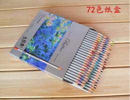 Wholesale marco pencil - 2015 Lapis Escolar New Marco Fine Art 72 Colors Drawing Pencils Non-toxic for Writing Sketches Uni Colored Set