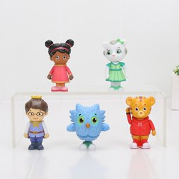 Wholesale Prince Toys - 5Pcs lot Daniel Tiger's Neighborhood Friends Prince Wednesday Miss Elaina O the Owl Katerina cat Toy 5-6.5cm