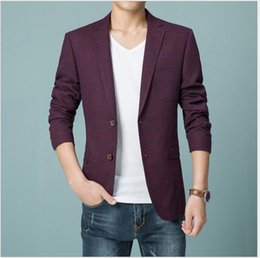 Wholesale Wine Grid - Wholesale-2017 new arrival Wholesale price 6809 wine red suits grid leisure men's Two Button fashion autumn high quality size