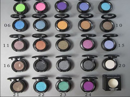 Wholesale Eyeshadow Single Pigment - New Eye Shadow 24 different Color eyeshadow pigment 1.5g(24 pcs lots) )24pcs Free shipping
