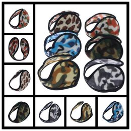 Wholesale Winter Accessories Ear Muffs - New Ear Muffs Camouflage Backphones Warm Plush Earmuff Winter Cold Ear Cover Hats & Caps Cycling Running Walking Accessories Ear Muffs
