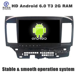 Wholesale Lancer Radio - 10.1 inch HD Android 6.0 for Mitsubishi Lancer 2008-2015 car dvd player with GPS 3G 4G WIFI Radio Stereo Navigation SWC mirror link free map